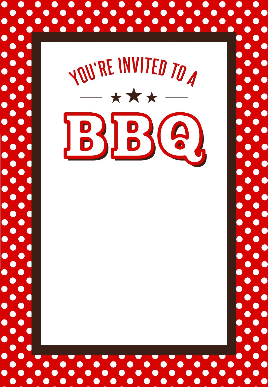 bbq party invitation free printables bbq party. Black Bedroom Furniture Sets. Home Design Ideas