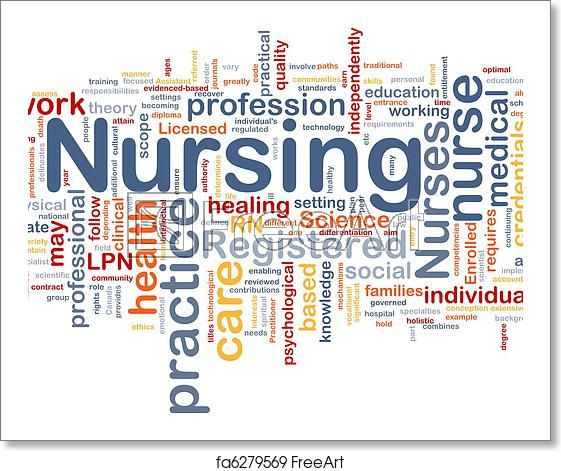 Free Art Print Of Nursing Background Concept In 2020