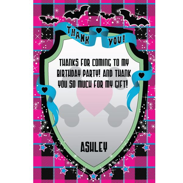 Monster Girl Personalized Invitations