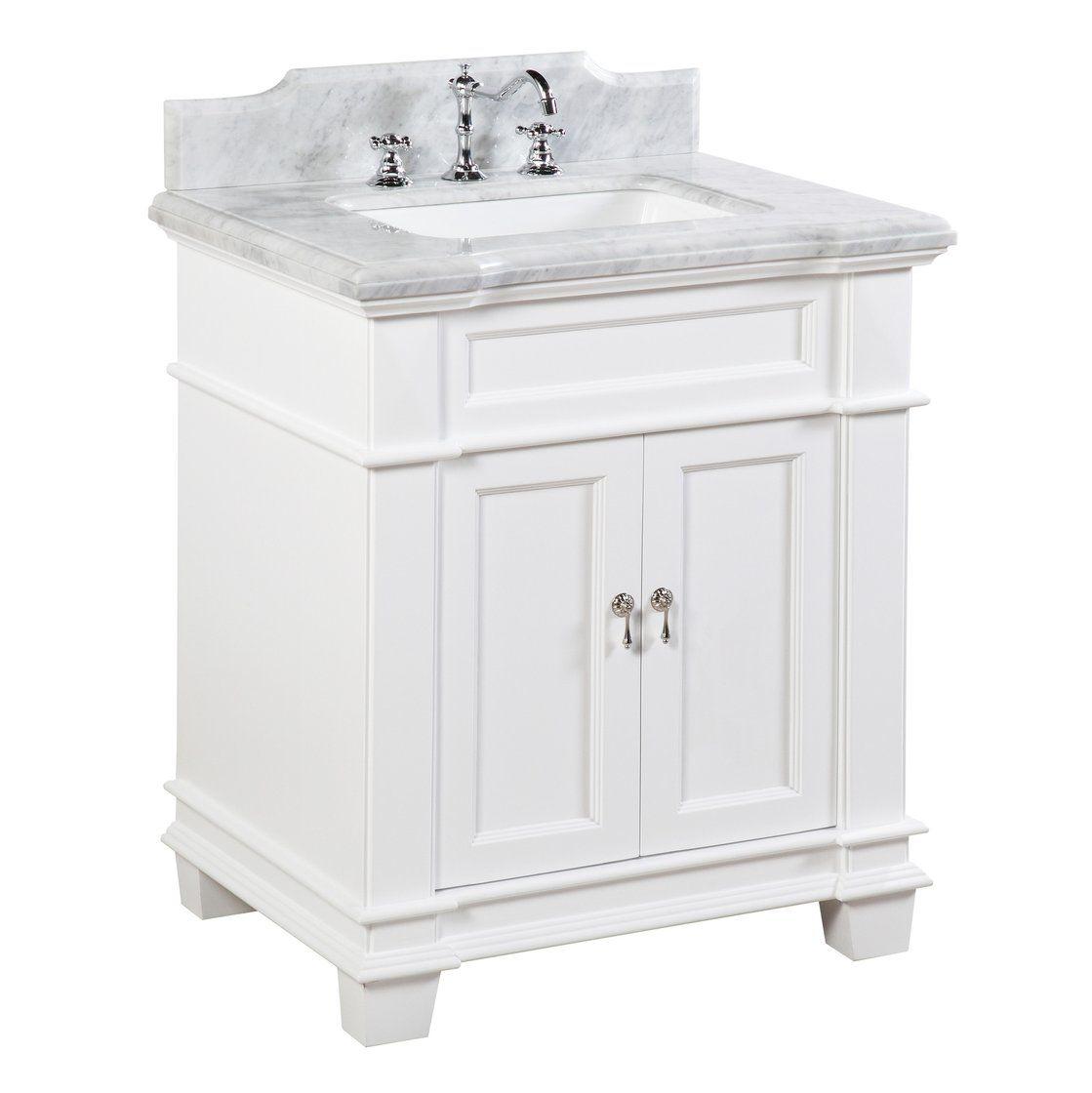 Elizabeth 30 Inch Vanity With Carrara Marble Top 30 Inch Bathroom Vanity Single Bathroom Vanity 30 Inch Vanity
