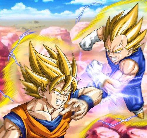 Goku vs vegeta dragonball z gt series i - Dbz fantasy anime ...