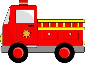 Fire Engine Clipart Image Cartoon Firetruck Creating