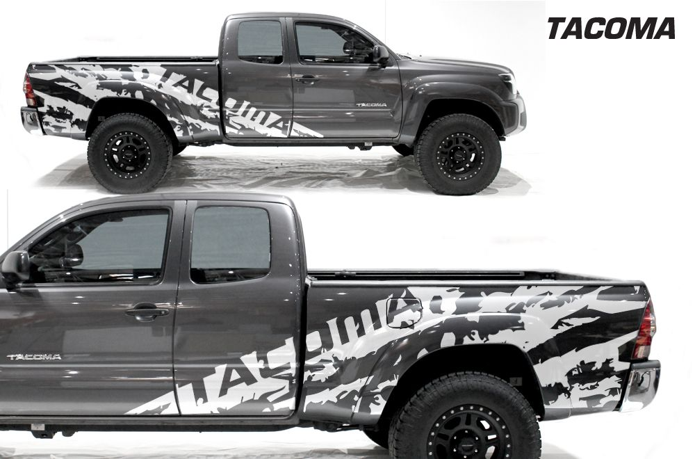 Toyota Tacoma 05 15 Vinyl Graphics For Bed Fender Toyota Tacoma Tacoma 2005 Custom Tacoma