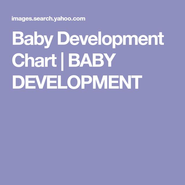 Baby Development Chart  Baby Development  Activities