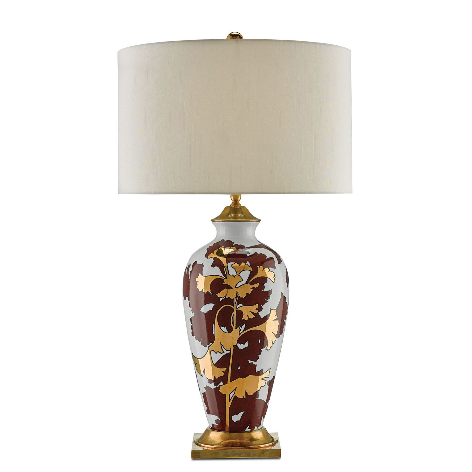 Currey And Company 6000 0009 Eternity 1 Light Table Lamp In Chestnut Red Table Lamp Lamp Floor Lamp Table
