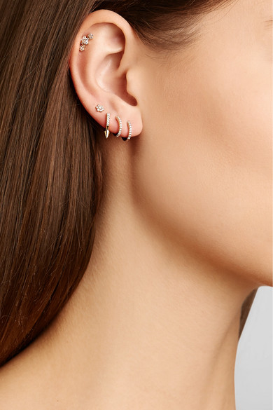 Maria Tash 18 Karat Rose Gold Diamond Earring