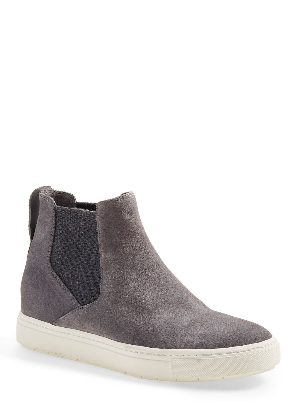 d55e54707d6615 These suede high-top sneakers are totally sport-chic