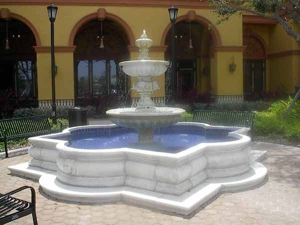 Italy Fountain Inside Pool | Monumental Fountains, Fountains With Pool,  Large Outdoor Garden .