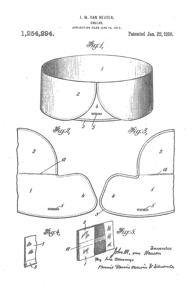 Van Heusen Collar Patent