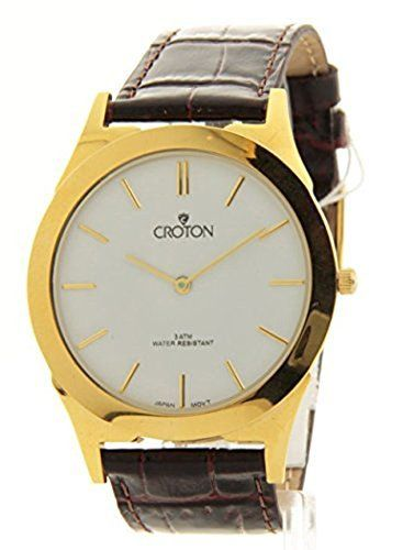 Croton Thin Gold Watch  White >>> Read more  at the image link.