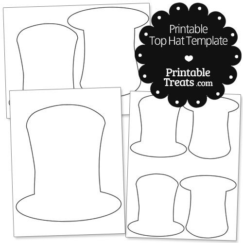 Printable Top Hat Template From PrintabletreatsCom  Shapes And