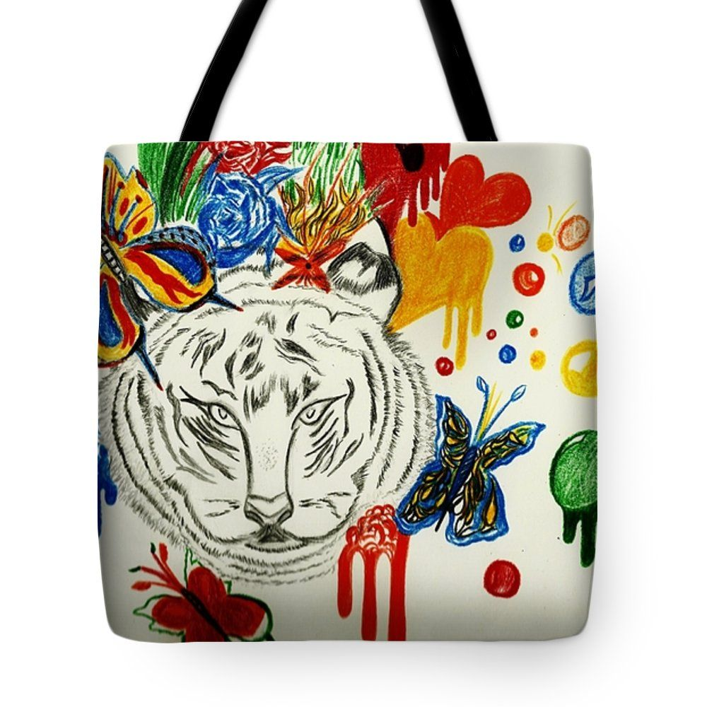 Dripping Tiger Tote Bag 18\