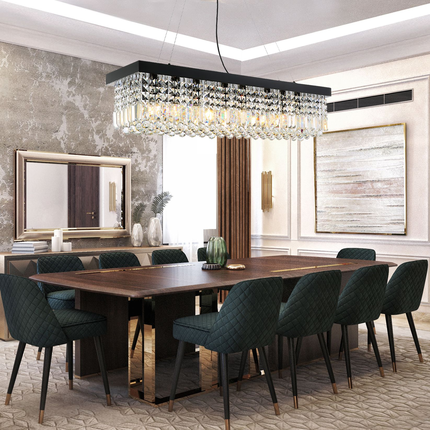 Rectangular Crystal Chandelier Dining Room Crystal Chandeliers Dining Room Chandelier Modern Dining Room Chandelier Crystal Chandelier Dining Room