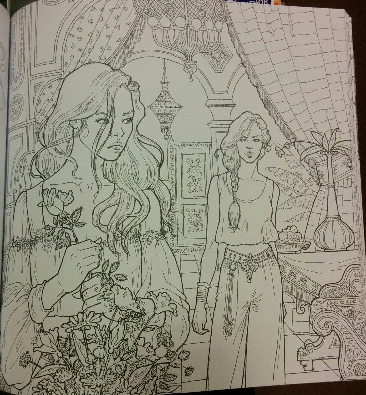 Feyre And Morrigan Coloring Books Coloring Pages Roses Book