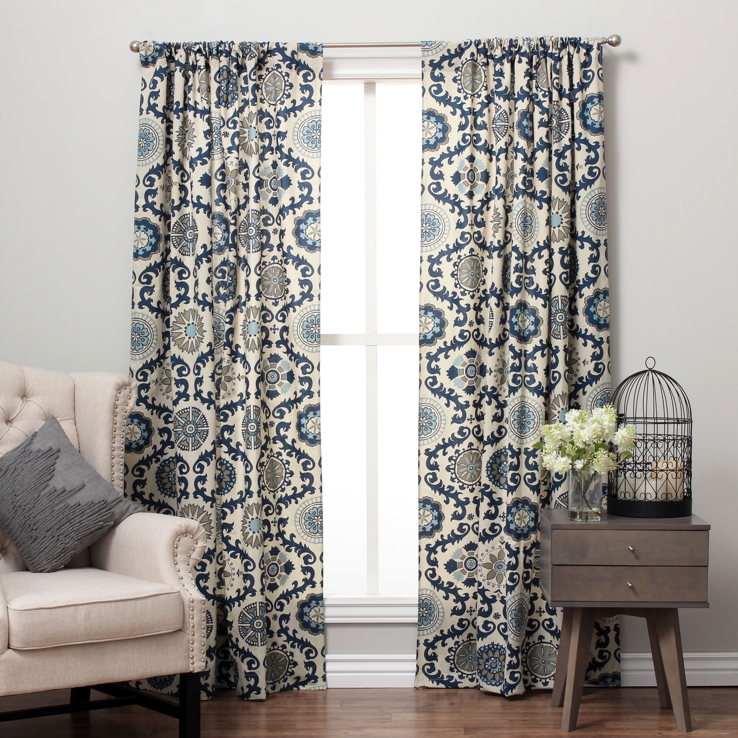 Update your home with these elegant suzani design printed curtains
