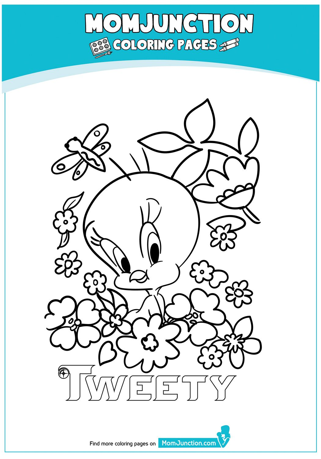 print coloring image MomJunction Bird coloring pages