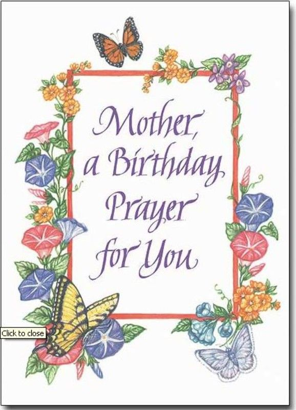 Mother Birthday Prayer Mother A Birthday Prayer For You Card