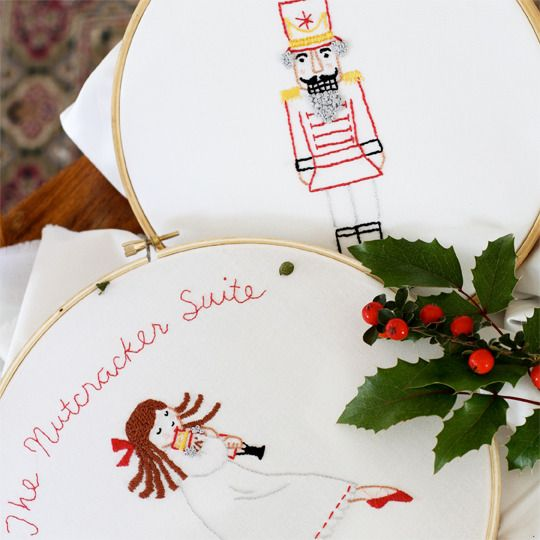 Nutcracker Suite embroidery pattern available from Sarah Jane