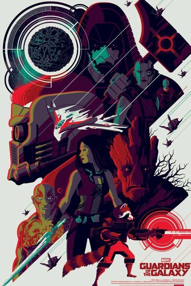 Guardians of the galaxy Tom Whalen NT mondo stout moss ...