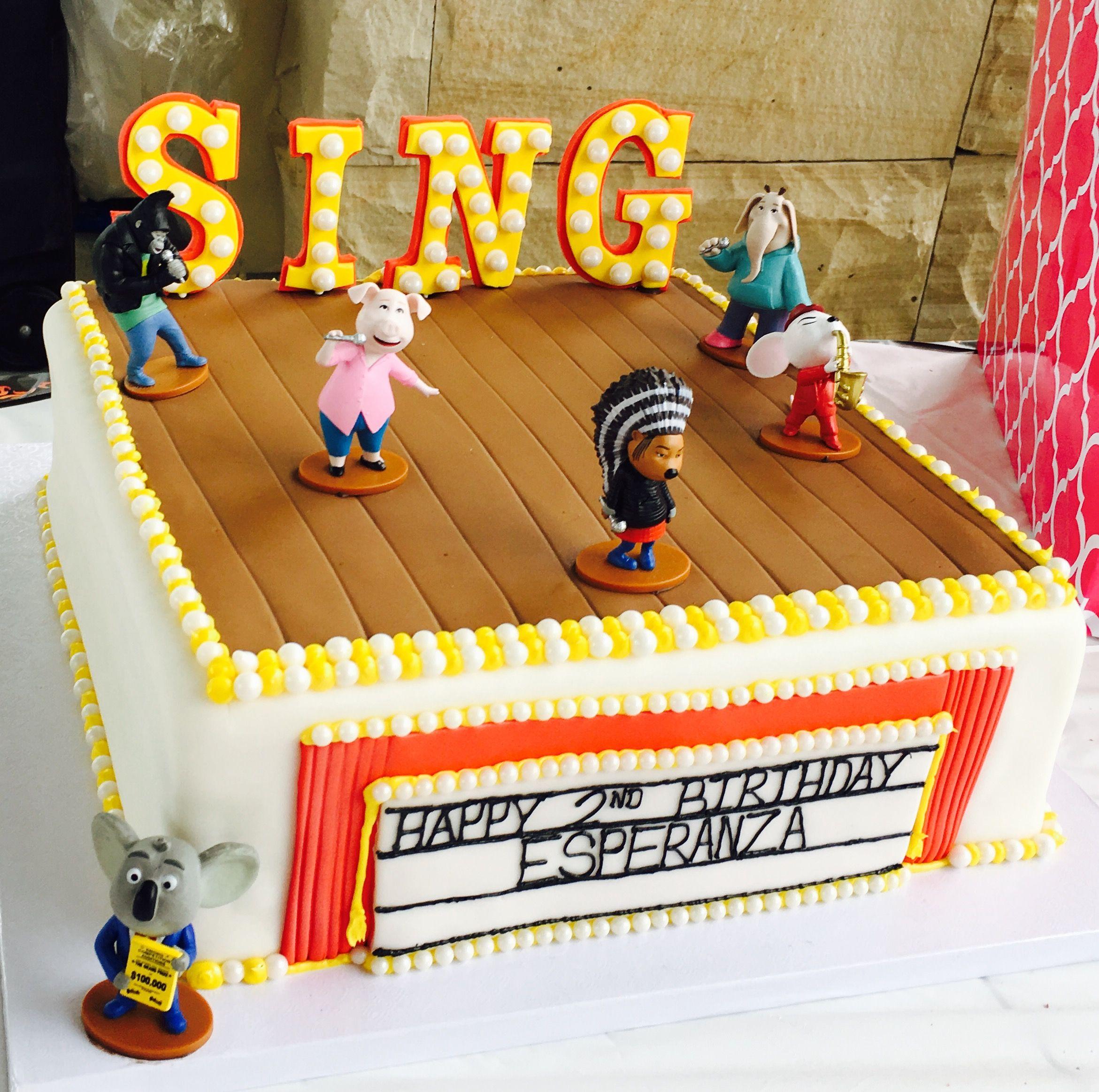 Sing Birthday Cake created by Azucar Bakery in Denver Colorado. For my Esperanza.