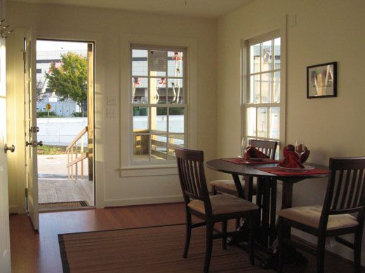 544 Square Foot Katrina Cottage Costs 29000 To Build Dining Area Inside Front Door