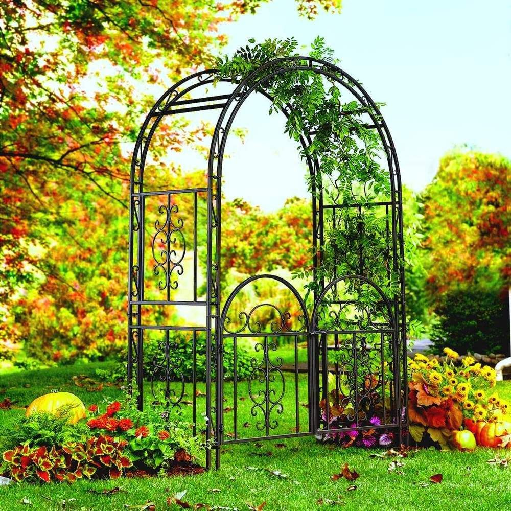 Wrought Iron Garden Arches Wrought Iron Arbor Metal Garden Arch