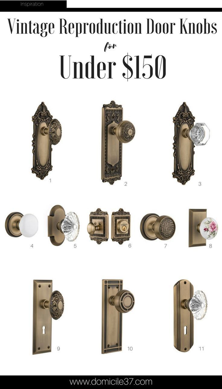 Adding a Vintage Touch with Nostalgic Warehouse | Door knobs ...
