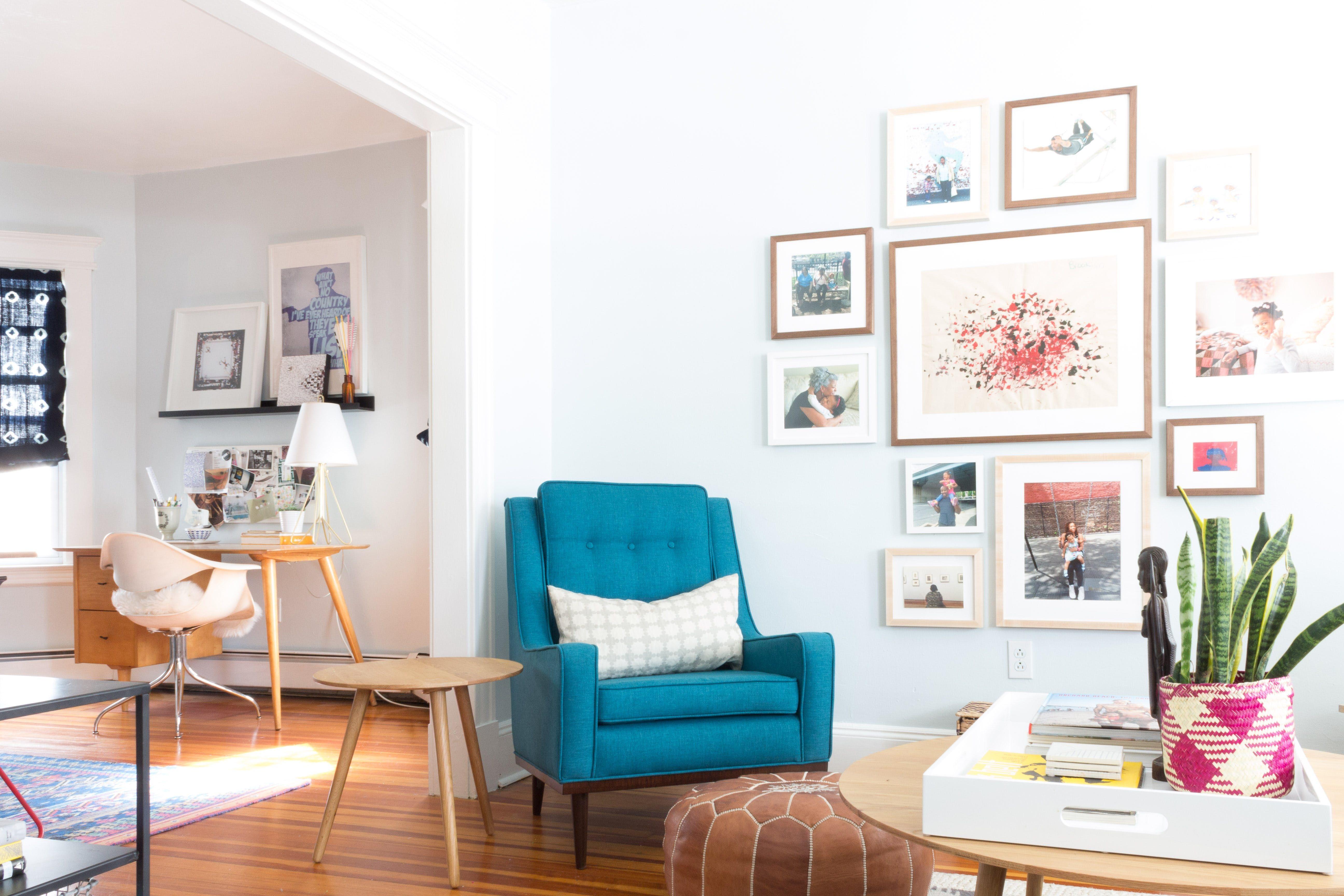 Home interior wall design tour a designerus creative u colorful connecticut home  gallery