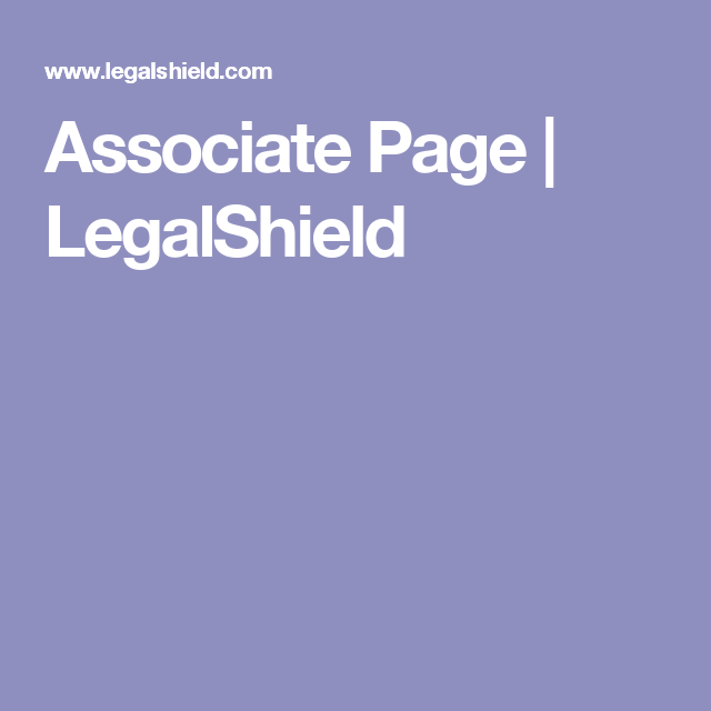 Associate Page | LegalShield
