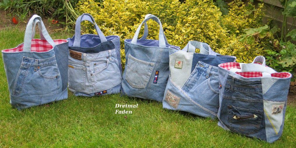 jeans upcycling shopper n hen pinterest n hen jeans und alte jeans. Black Bedroom Furniture Sets. Home Design Ideas