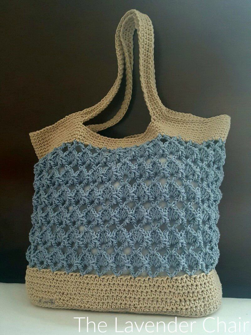 The Sensu Fan Market Tote is the perfect crochet bag pattern if you ...