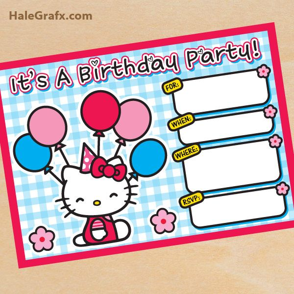 Hello Kitty Birthday Invitations Printable Free Invitation – Hello Kitty Party Invitations Printable