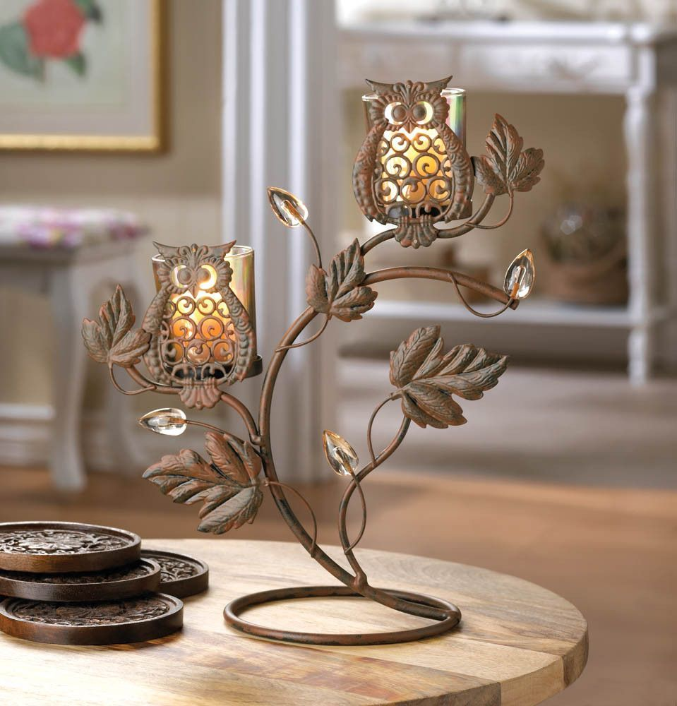 Wise owl duo votive stand products pinterest wise owl owl and