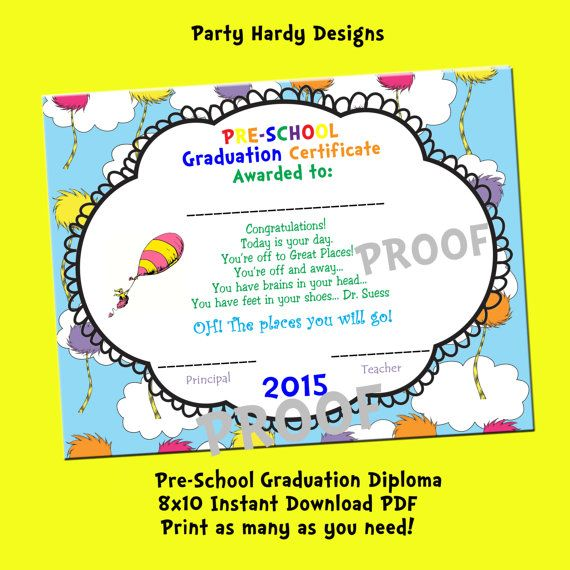 graphic relating to Pre Kindergarten Diploma Printable known as Oh the puts yourself will move Printable 2018 PRESCHOOL