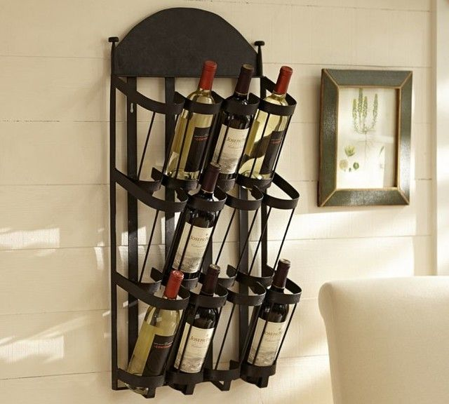Vintners Wall Mount Wine Rack Contemporary Racks