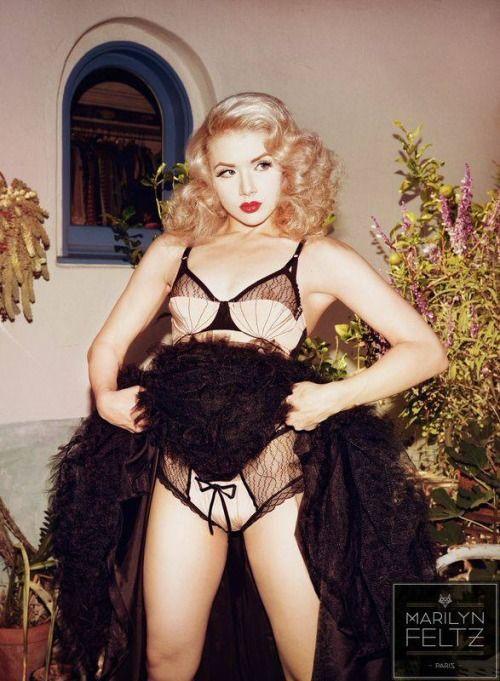 fdf502a62fc Miss Mosh wearing Dottie s Delights lingerie