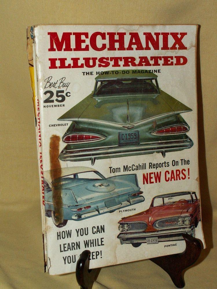 Mechanix Illustrated Mechanics Magazine November 1958 New Cars Classic Cars Cars For Sale