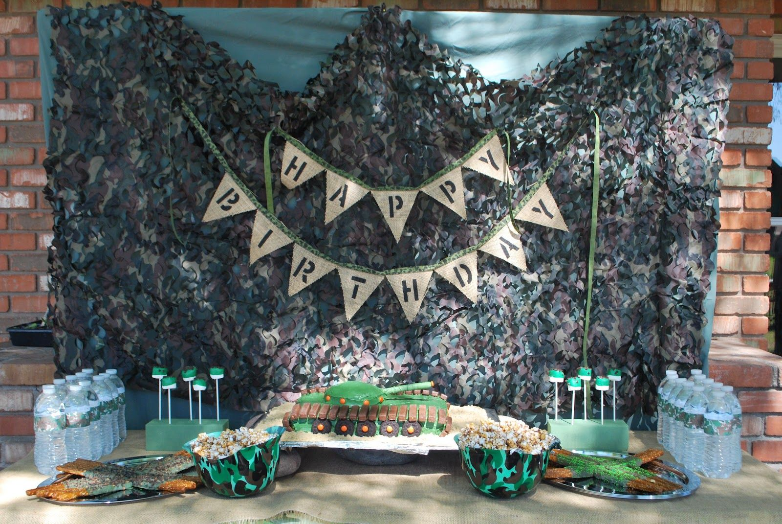 Camouflage Party Supplies Kids