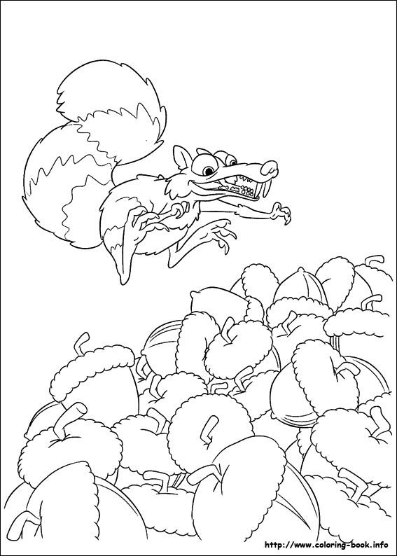 Ice Age Continental Drift Coloring Picture Paginas Para