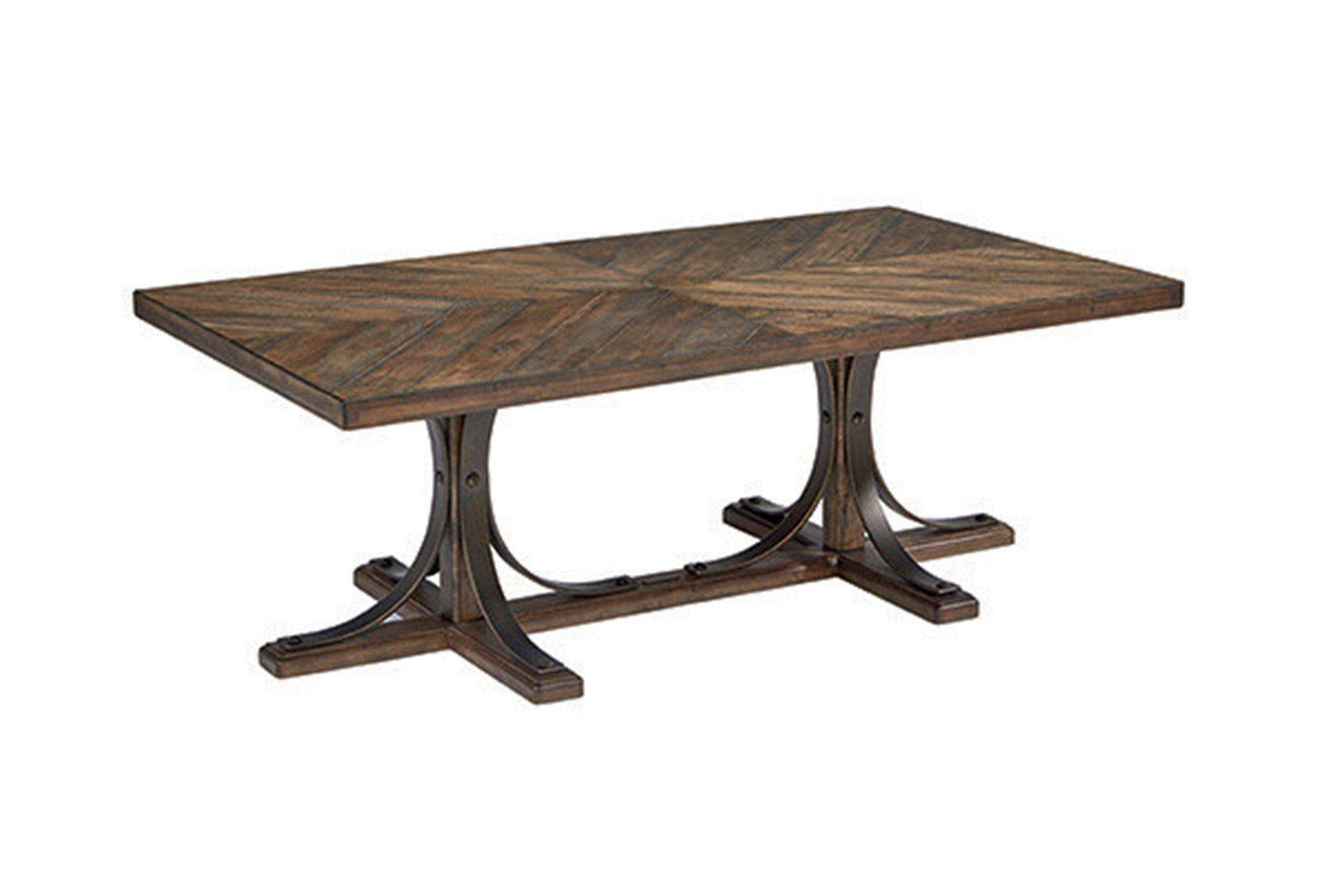 Astonishing Magnolia Home Iron Trestle Coffee Table By Joanna Gaines Gmtry Best Dining Table And Chair Ideas Images Gmtryco
