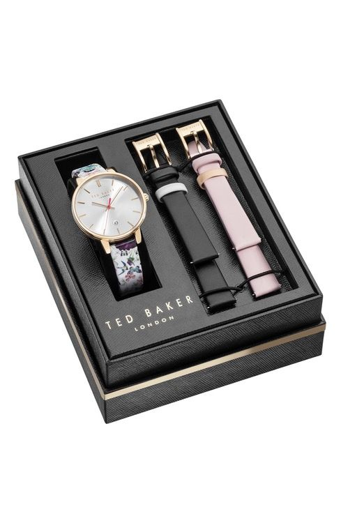 511ed58252cc Main Image - Ted Baker London Kate Leather Strap Watch Set