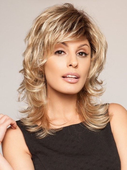 hair styles now a mid length shag with layers that add texture and built 6596