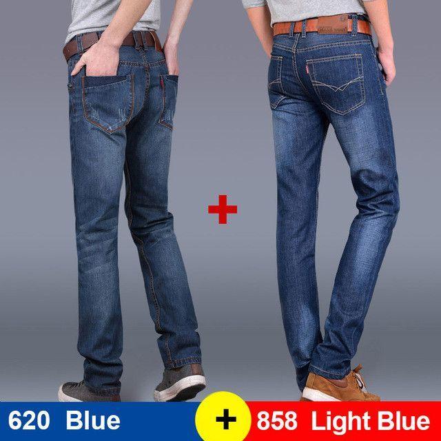 1e37e6448271 Thoshine 2017 Spring Summer Autumn 2 pcs per lot Men Straight Jeans Male  Casual Denim Pants Adult Fashion Trousers Plus Size