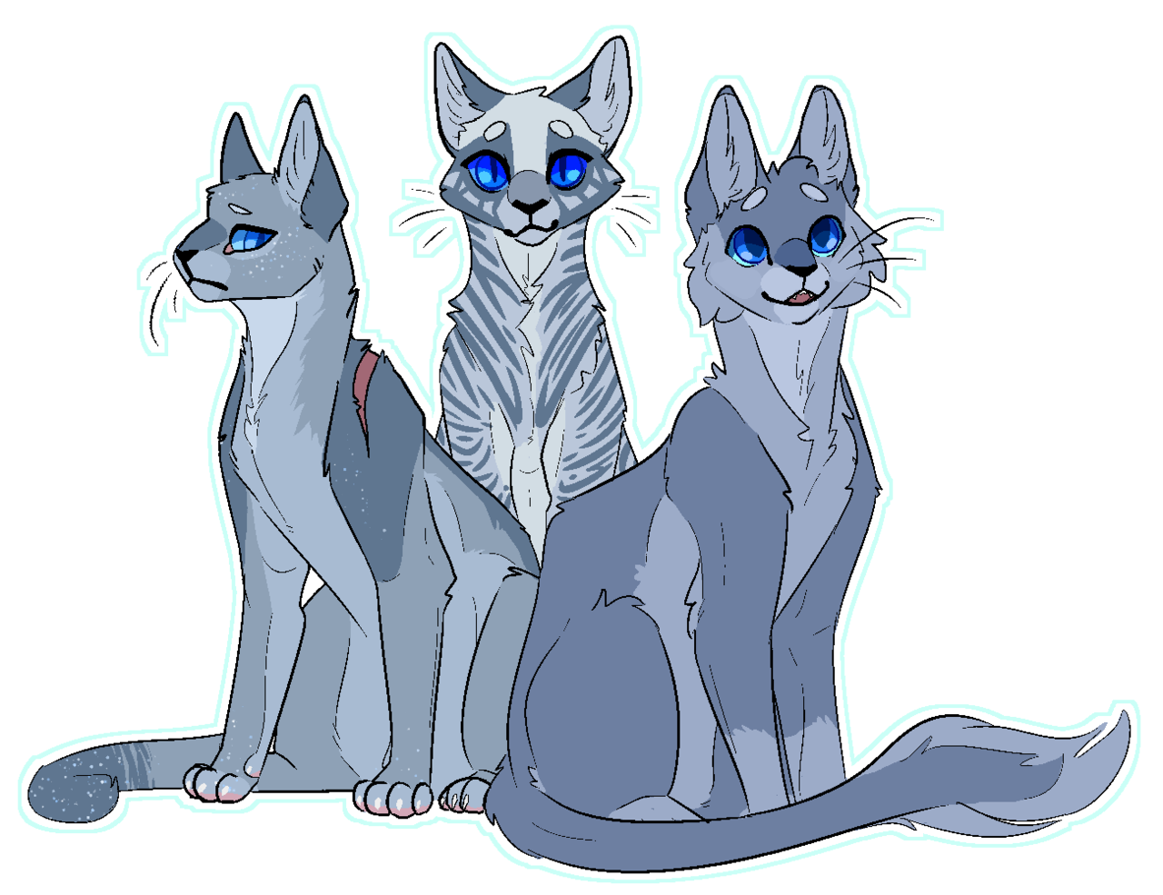 "cynders ""bluestar + moonflower + mistyfoot "" Warrior"