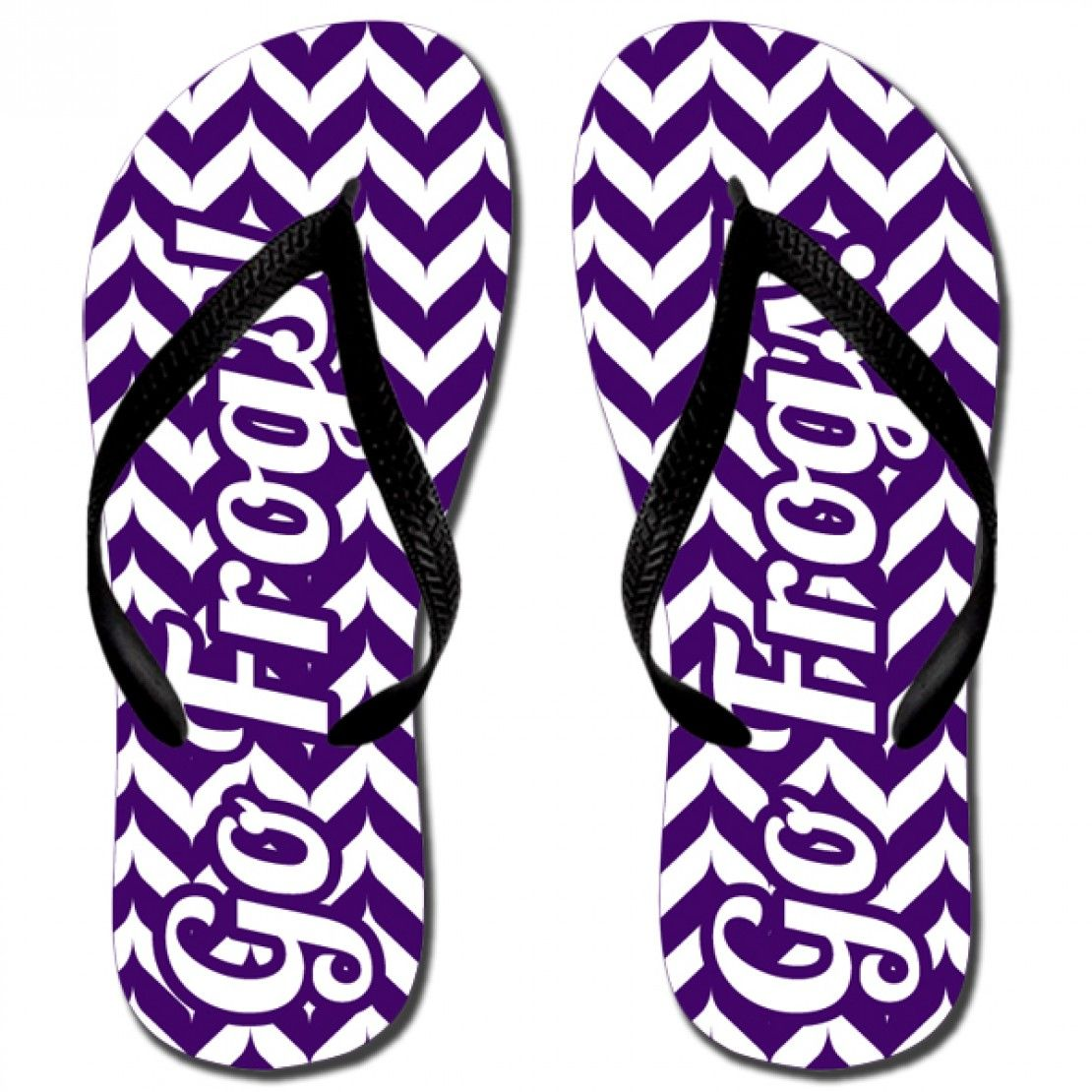 Katydid Go Frogs Fashion Women's Flip Flop  Designed by Katydid  flip flops are unisex sizing.  please note that women's will run wide. sizes :  XS (Women's 5-6)  S (Women's 7-8)  M (Women's 9-10)  L (Women's 11-12)  rubber straps and sole