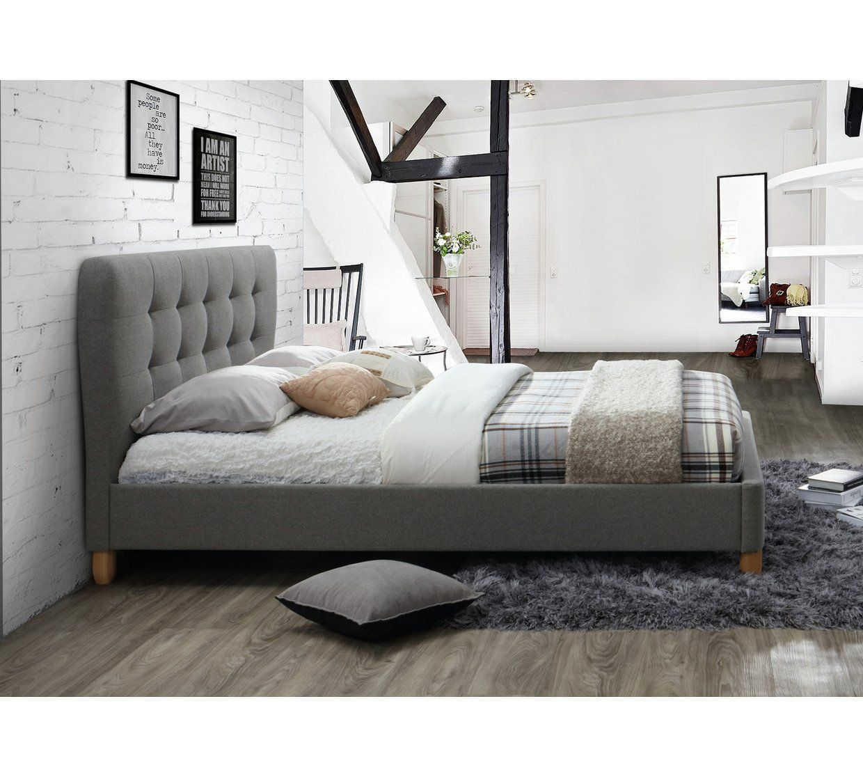 Buy Birlea Stockholm Small Double Bed Frame Grey Bed Frames Argos Grey Bed Frame Grey Upholstered Bed Upholstered Bed Frame