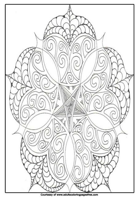 Adults Coloring Pages Free Mandala Coloring Pages Advanced Level Printable In 2020 Mandala Coloring Pages Coloring Pages Flower Coloring Pages