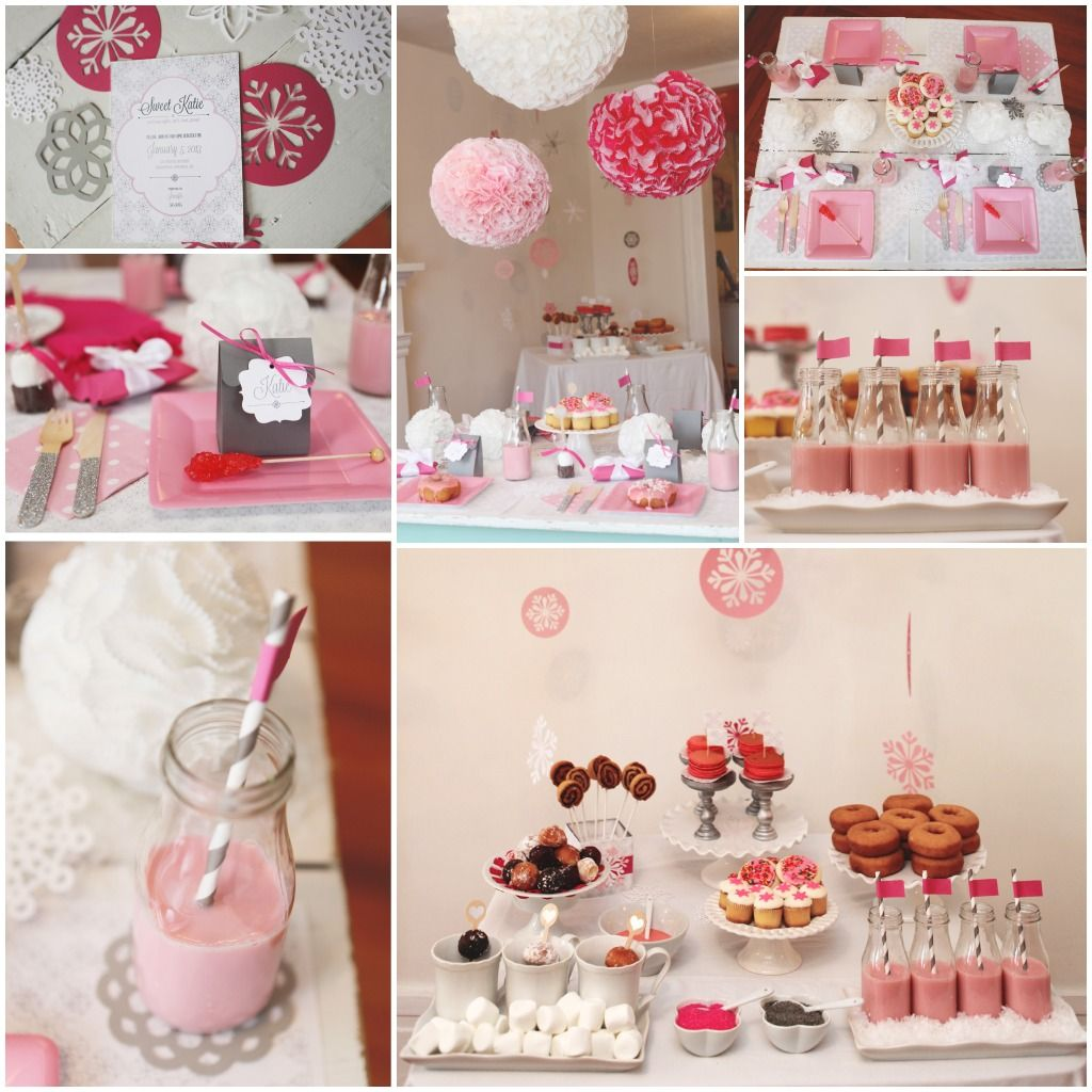 Birthday Party Ideas From The Pink Orange And Styled By Melissa Simple Birthday Party 1st Birthday Party Themes Baby Birthday Party Girl