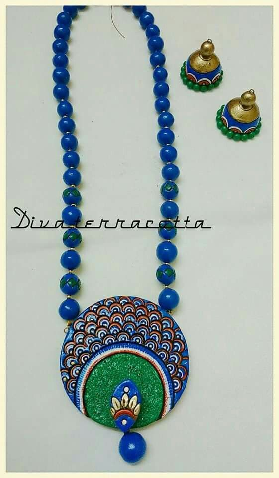 Pin by Mrudula Vellapalem on Terracota Jewellery Ideas | Terracotta ...