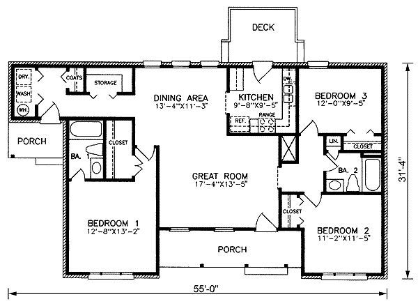 1400 square feet 3 bedrooms 2 batrooms on 1 levels for 1400 square foot house plans with garage
